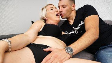 Naughty mature Gasha having fun with her toy boy
