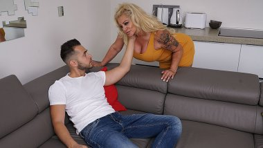 Kinky housewife sucking and fucking her toyboy