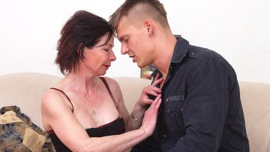 Horny housewife getting fucked by her toy boy