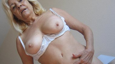 Blonde mature mama gets nasty with toys