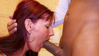 Deep throat cock sucking on a public toilet