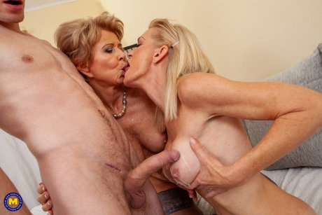 Two horny cougars share a toyboy chiroprator