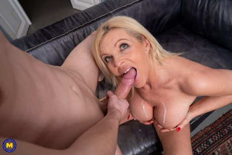Horny MILF seduces a toyboy for some afternoon delight