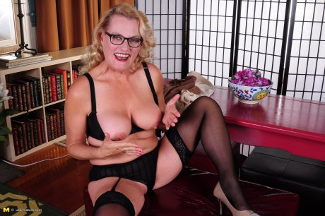 Naughty American housewife doing her thing